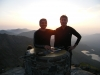 Naresh Chauhan & Mukesh Bhatt - summit of Snowdon at sunrise