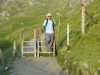 Mayank Patel nearly at the bottom of Snowdon